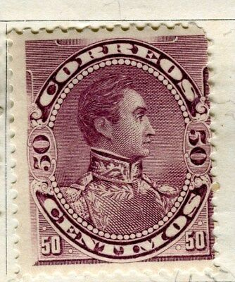 VENEZUELA;  1893 early classic  issue Foreign Post 50c. Mint hinged value