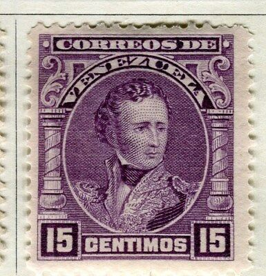 VENEZUELA;  1904 early Sucre issue Mint hinged 15c. value
