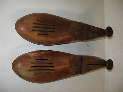 Vintage Mens Shoe Trees Stretchers Wood Wooden Keepers 3 10