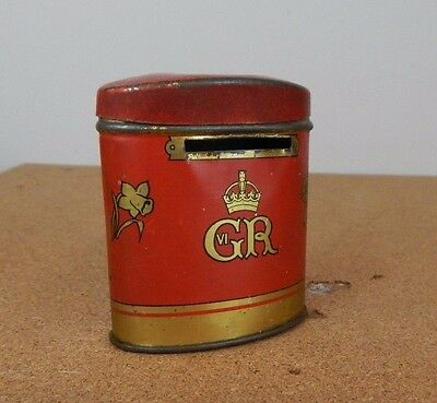 Vintage George VI oxo tin moneybox May 12th 1937