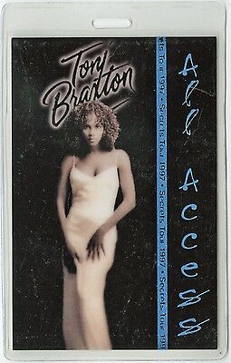 Tony Braxton authentic 1997 concert tour Laminated Backstage Pass