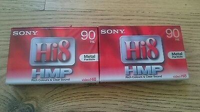 Sony Hi8 Hmp 90 tapes x 2 new and sealed