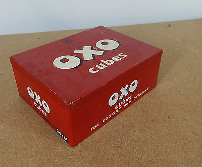 Vintage Oxo cubes tin large 24x6 To the late King George Vi...lft