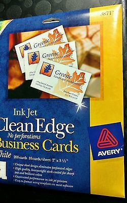 Avery 8871 White 2-sided printable Clean Edge Business Cards