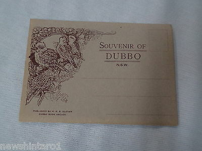 #d285.  Old   Souvenir View Folder  Of Dubbo