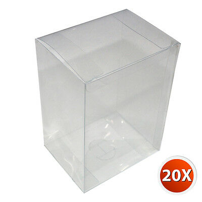 "20-Pack 4"" Crystal Clear Vinyl Box Cover Case 0.35 mm Thickness For Funko Pop"