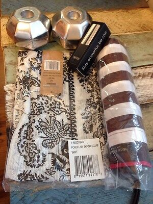 NEW Popsugar Lot Triple C Power Gloss Henri Bendel Umbrella Nima Oberoi Scarf