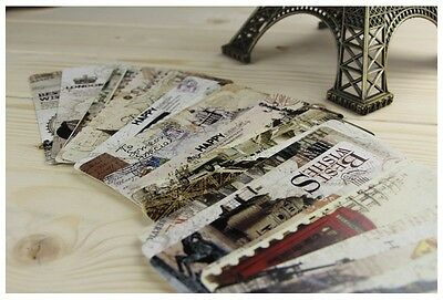 30 Pcs Historical Attractions Bookmarks Note Pad Memo Stationery Book Mark