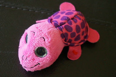 """McDONALDS TY Teenie Beanie Boos MYRTLE the PINK Turtle 3"""" 2014 Happy Meal Toy"""
