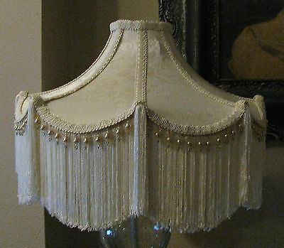 """Victorian French Large Floor Table Lamp Shade """"Bella""""  Fringe Tassels Look!"""
