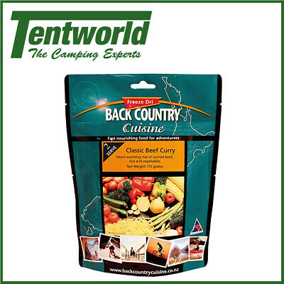 Backcountry Classic Beef Curry Food - 2 Serve
