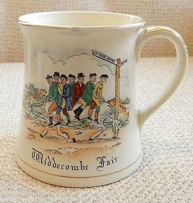 Large Vintage Crown Devon Musical Mug WIDDICOMBE FAIR Chip to lip