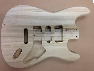"""NEW ELECTRIC S GUITAR BODY, SOLID PAULOWNIA, 41MM THICK, 25.5"""" SCALE, No 44"""