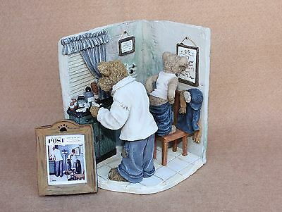 Boyds Bears Resin Before The Shot Norman Rockwell March 15, 1958 2010 LE Ret