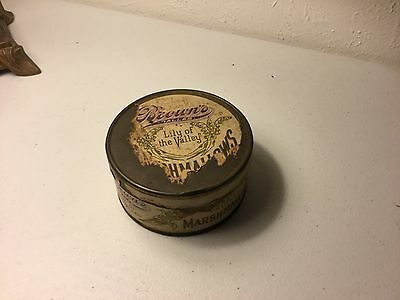 Rare Antique Brown's Lily Of The Valley Sweet Vanilla Marshmallows Tin