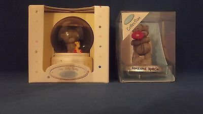 Me To You Tatty Teddy Figurine Glitter globe ball + Someone Special in Boxes