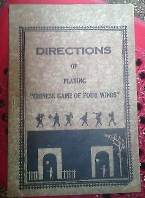 Old Directions Of Playing China Chinese Game Of Four Winds Brochure Or Pamplets