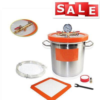 12L/0.8mm Stainless Steel Strong Degassing Vacuum Chamber With Acrylic Cover UK