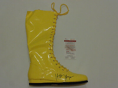 HULK HOGAN autographed signed right yellow Wrestling Boot JSA witness #WP53071