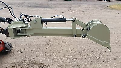 swinging Backhoe attachment for mini skid steer fits Toro Dingo and Ditch Witch
