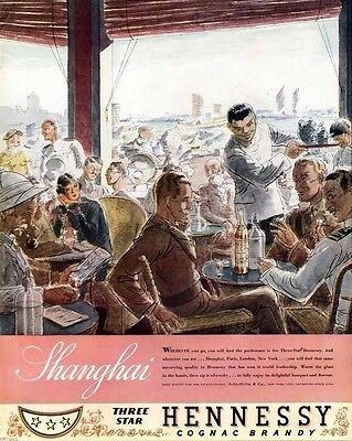 1935 Hennessy Cognac Brandy Shanghai Liquor Asia Party7082