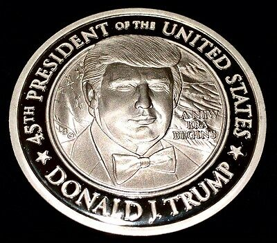 WOW WOW WOW! .999 SILVER 2017 TRUMP SERIALIZED INAUGURATION COIN ONE Toz,