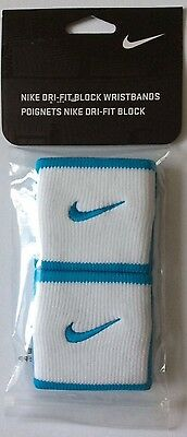 NIKE UNISEX DRY FIT BLOCK WRISTBANDS used by Maria Sharapova SUPERB absurbtion!!