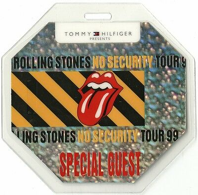 Rolling Stones authentic 1999 concert tour Laminated Backstage Pass