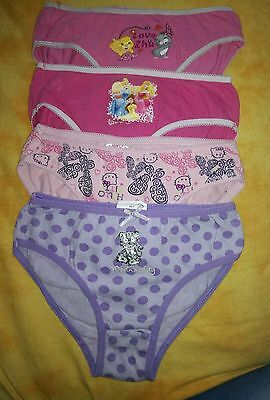Lot 4 culottes fille 4 / 5 ans disney hello kitty