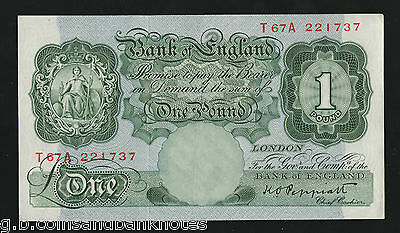 K.o. Peppiatt £1 English Green Banknote In  Ef  Xf Condition