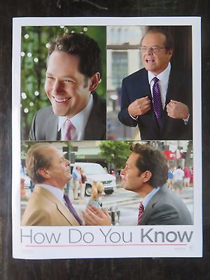 Lobby card HOLLYWOOD COLUMBIA PICTURES HOW DO YOU KNOW (2010) James L. Brooks