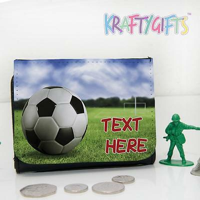 Personalised Football Game Field Boys Childrens Lunch Wallet Money Gift DP23