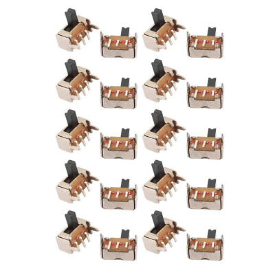 20 Pcs DC 50V 0.5A 2 Position 3P SPDT Micro Slide Latching Switch for Toys