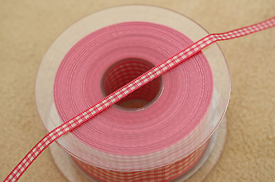 20 Metres Berisfords 5mm Gingham Ribbon Small Check 7391 - VARIOUS COLOURS 20m