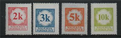 Nigeria 1973 Postage Dues SG D11/14 MNH