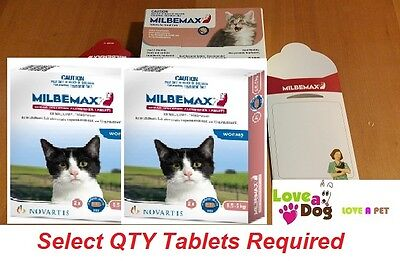 Milbemax Cat Worming Tablets For Small Cats and Kittens between 0.5 and 2 kg