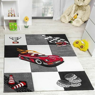 Childrens Rug Modern Soft Mats Cars Boys Bedroom Carpets Small Large Playmat New