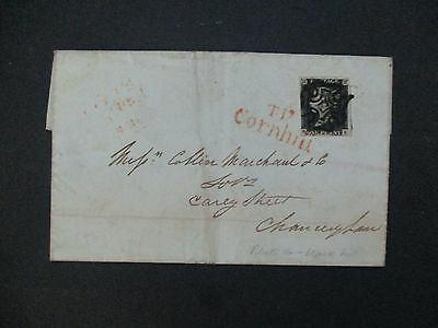 UK Stamps: 1840 Letter Penny Black included Piece of History Arrived Today!