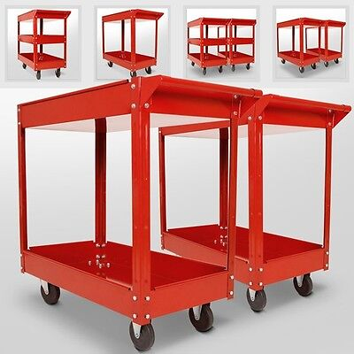 Tool Cart Garage Utility Trolley 2 3 Tier Wheeled Caddy Tray Storage DIY Set