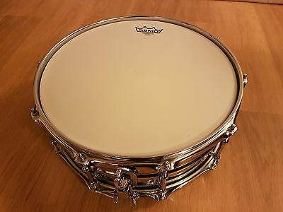 "Ludwig Supralite Steel Snare Drum 14"" x 5.5"" with Upgrades LIKE NEW"