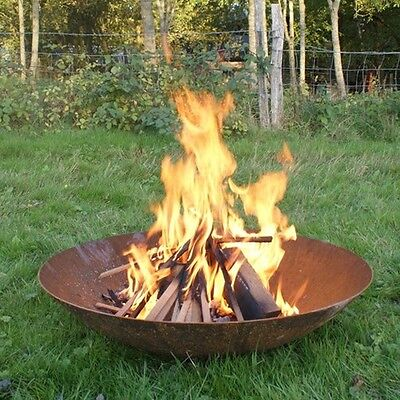 Corten Steel Fire Pit/Log Dish Burner/Garden Feature/Patio Heater/Brazier/Bowl