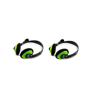 iMicro IM942 Multimedia Stereo Headset with Microphone, 2-Pack #SP-IM942 2