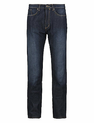 M&s Collection Mens Regular Fit Stretch Jeans  Five Colour,sizes 30 Up To 50