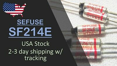 USA Stock, Fast ship - 5 pcs SF214E SEFUSE NEC Thermal Fuse 216°C 10A 250V