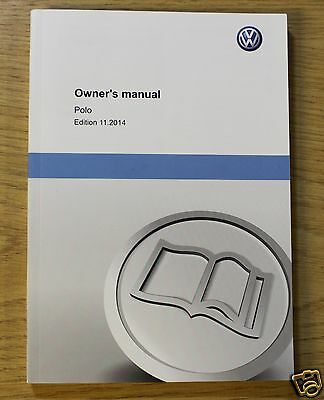 Genuine Vw Polo Handbook Owners Manual 2014-2016 Book 11801