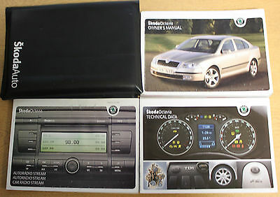 Skoda Octavia Handbook Owners Manual Wallet 2004-2009 Pack 13385