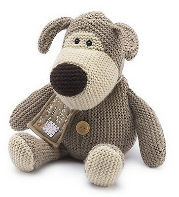 Intelex Fully Heatable Knitted Boofle Dog Microwavable Bed Time Soft Teddy Gift