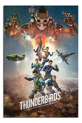 Thunderbirds Are Go Collage Poster New - Maxi Size 36 x 24 Inch