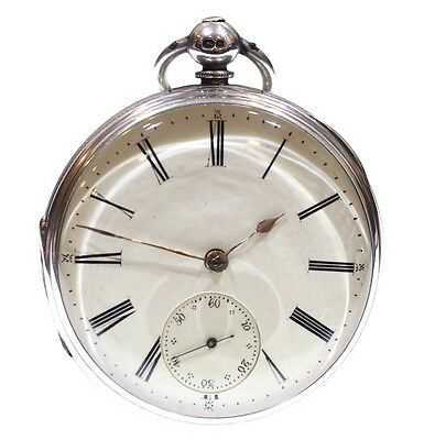 Large Antique Pocket Watch 1871 Solid Silver Fusee Lever. Serviced