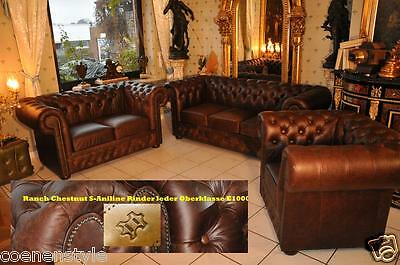 Chesterfield Heritage De Luxe Pull Up Aniline Vintage Chestnut E1000